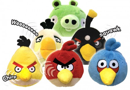 Peluches Angry Birds con sonido