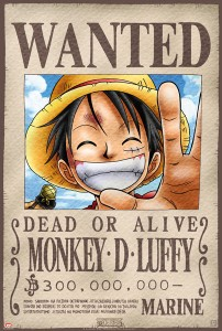 Poster one piece luffy se busca