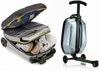 regalos originales maleta con patinete samsonite