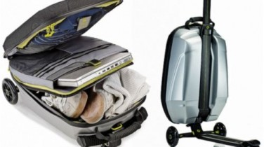 Maleta Samsonite con Patinete Integrado