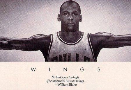 Póster de Michael Jordan WINGS