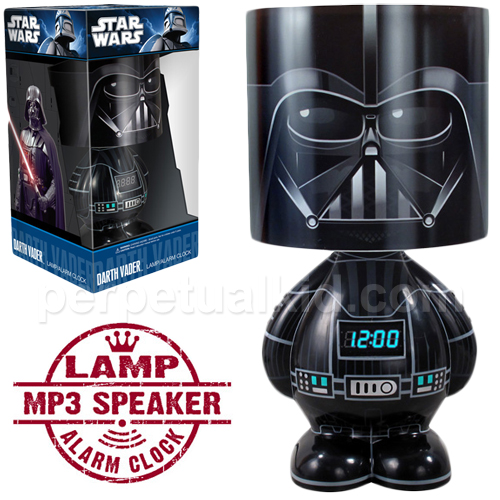 lampara darth vader con reloj y mp3