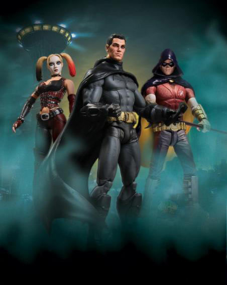 pack 3 figuras batman arkham city