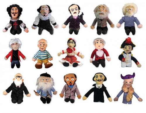peluches little thinkers de personajes históricos