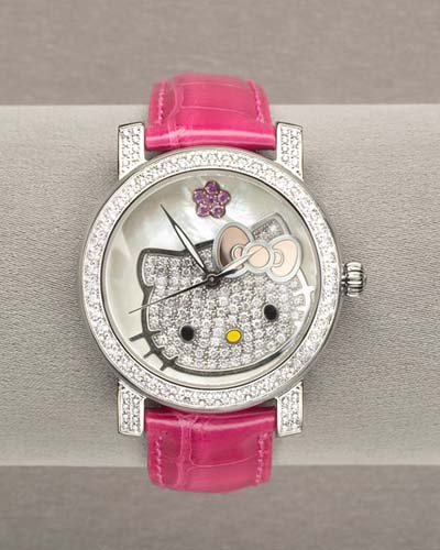 reloj helo kitty con diamantes