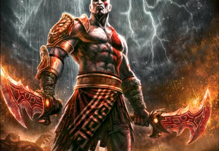 Mega póster Kratos en God of War