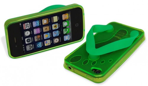regalos originales funda iphone 4 chancletas flip flop