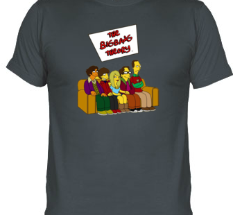 Camiseta Protagonistas Big Bang Theory al Estilo Simpson