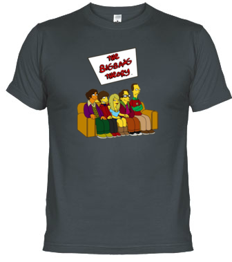 regalos originales camiseta big bang theory al estilo simpson