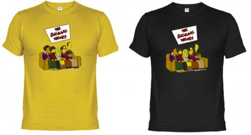 regalos originales camisetas originales big bang theory simpson