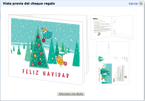 Diseño cheque regalo amazon