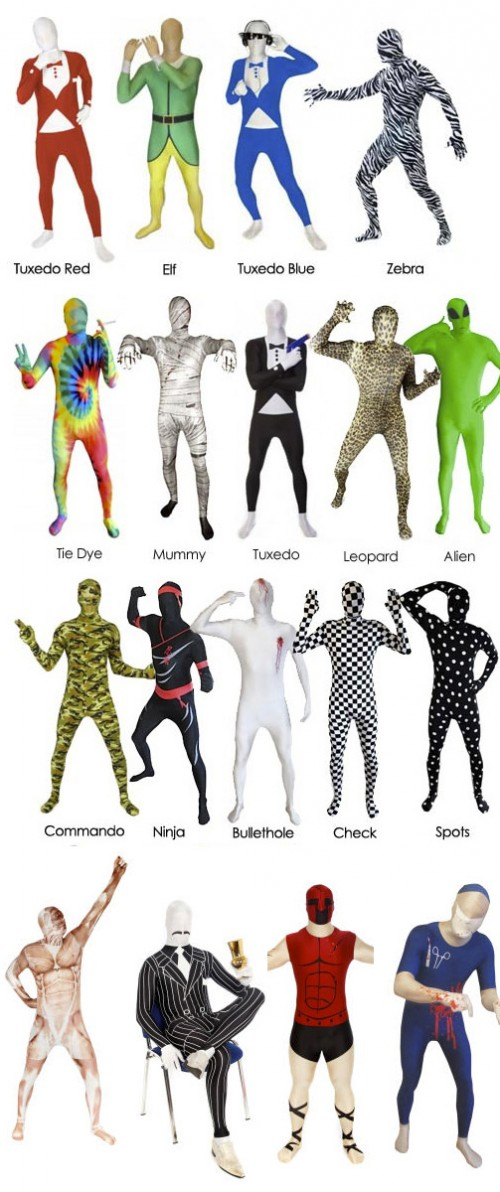disfraces originales Morphsuits premium