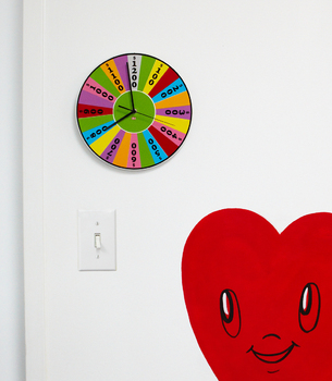 regalos originales reloj de pared ruleta fortuna