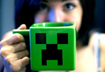 Taza Minecraft Creeper Face