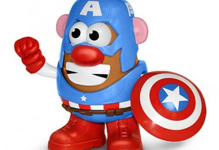 Mr. Potato con los Trajes de los Superhéroes de Marvel