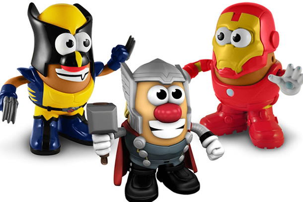regalos originales mr. potato superheroes marvel