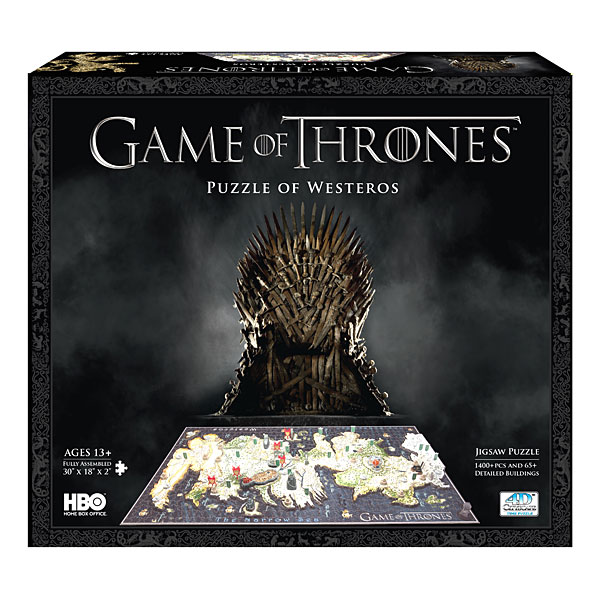 game of thrones puzzle mapa en 3D