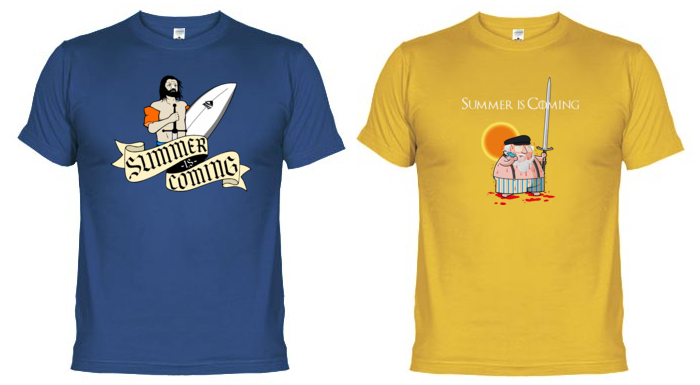 Camisetas Juego de Tronos Summer is coming