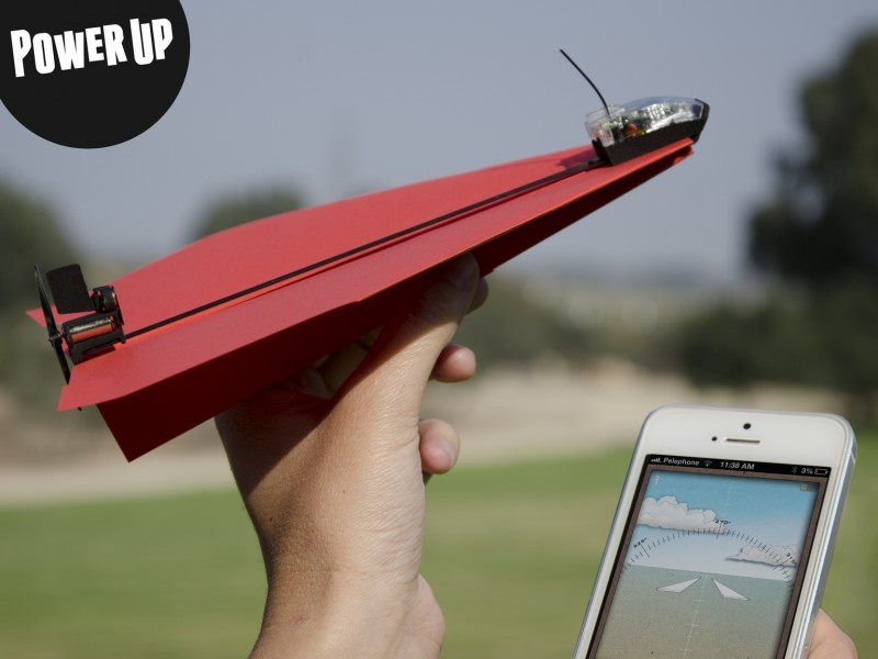 Power Up, Motor para controlr tus aviones de papel