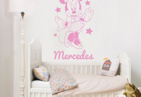 Vinilo Mickey/Minnie Personalizable