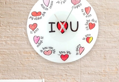 Reloj de Pared Love You